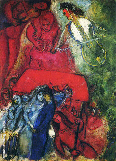 The Wedding, 1944 Painting By Marc Chagall - Reproduction Gallery