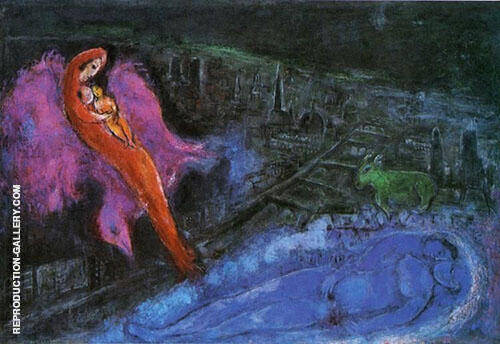 Bridges over the Seine 1954 Painting By Marc Chagall