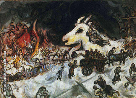 War c1966 By Marc Chagall - Oil Paintings & Art Reproductions - Reproduction Gallery