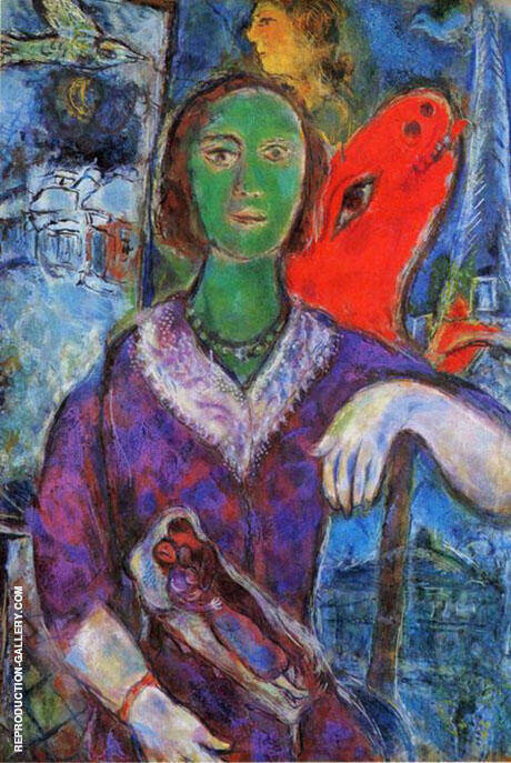 Portrait of Vana, 1966 By Marc Chagall Replica Paintings on Canvas - Reproduction Gallery