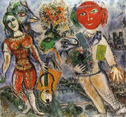 The Players, 1968 By Marc Chagall