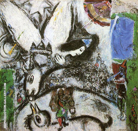 The Large Circus 1968 Painting By Marc Chagall - Reproduction Gallery