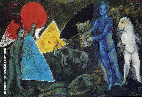 The Myth of Orpheus 1977 By Marc Chagall Replica Paintings on Canvas - Reproduction Gallery