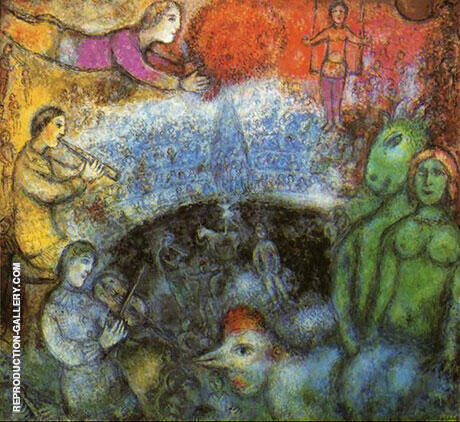 The Grand Parade c1979 By Marc Chagall - Oil Paintings & Art Reproductions - Reproduction Gallery