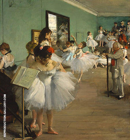 Dance Class 1874 By Edgar Degas - Oil Paintings & Art Reproductions - Reproduction Gallery