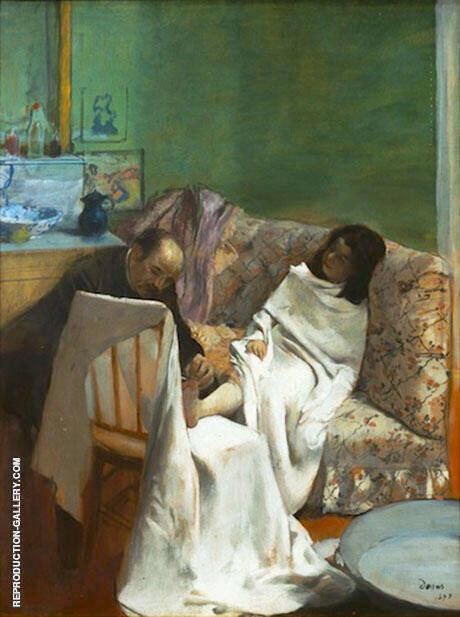 The Pedicurist 1873 By Edgar Degas