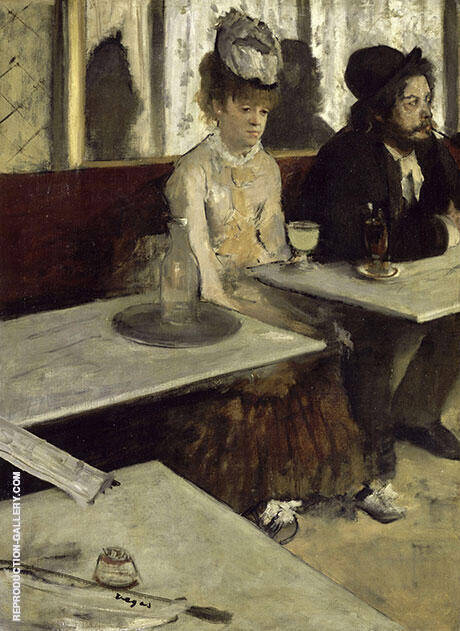 Reproduction of The Absinth Drinker, 1875-76 by Edgar Degas | Oil Painting Replica On CanvasReproduction Gallery