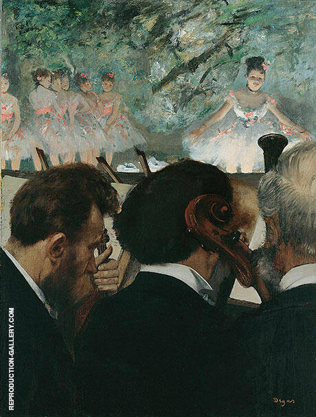 Orchestra Musicians, 1870-71 By Edgar Degas - Oil Paintings & Art Reproductions - Reproduction Gallery
