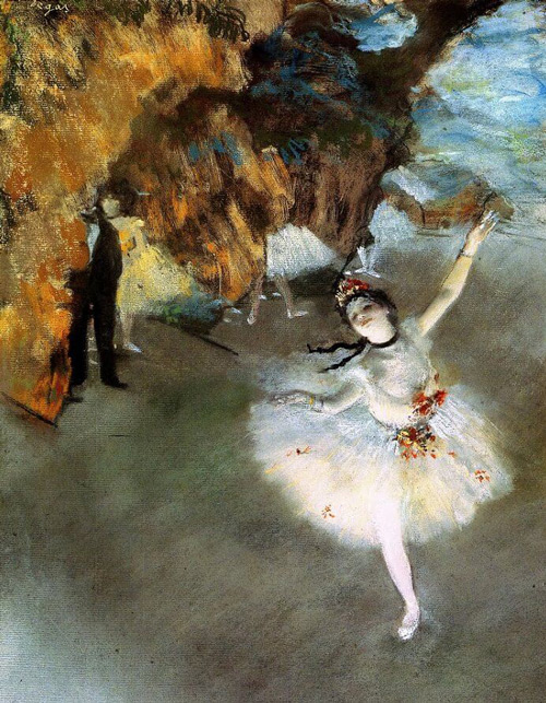 The Star Prima Ballerina aka l'Etoile c1876 Painting By Edgar Degas