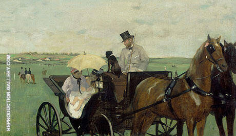 Carriage at the Races 1869 By Edgar Degas