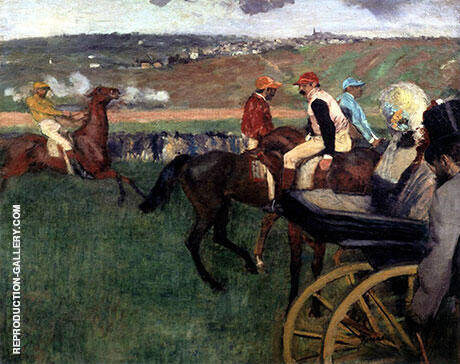 At the Races Amateur Jockeys By Edgar Degas