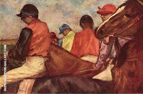 Jockeys c1882 By Edgar Degas
