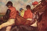Jockeys c1882 By Edgar Degas