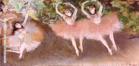 Ballet Scene c1870 Painting By Edgar Degas - Reproduction Gallery