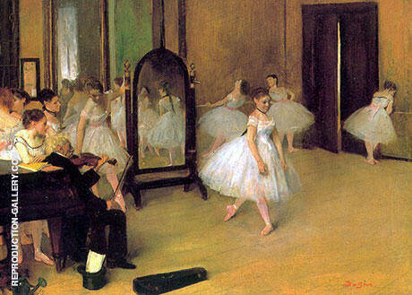 Dance Class, c1871 By Edgar Degas Replica Paintings on Canvas - Reproduction Gallery