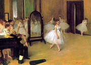 Dance Class, c1871 By Edgar Degas
