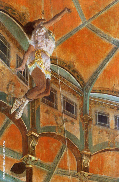 Mlle La La at the Circus Fernando 1879 By Edgar Degas Replica Paintings on Canvas - Reproduction Gallery