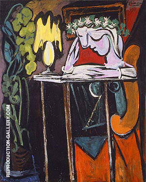 Girl Reading at a Table 1934 Painting By Pablo Picasso