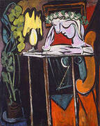 Girl Reading at a Table 1934 By Pablo Picasso
