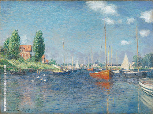 Red Boats. Argenteuil 1875 By Claude Monet