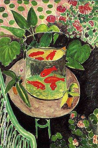 Red Fish 1912 By Henri Matisse - Oil Paintings & Art Reproductions - Reproduction Gallery