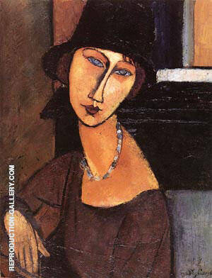 Jeanne Ha Cloche 1917 By Amedeo Modigliani