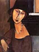 Jeanne Ha Cloche 1917 By Amedeo Modigliani