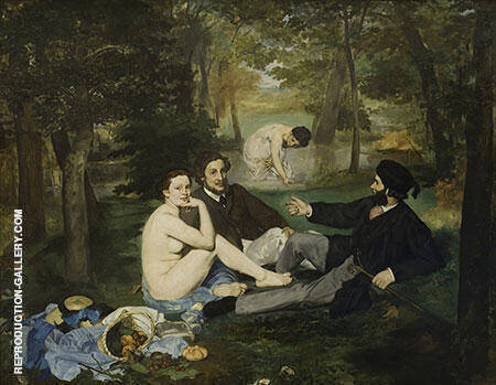 Le Dejeuner sur l'herbe Luncheon on the Grass 1863 Painting By ...