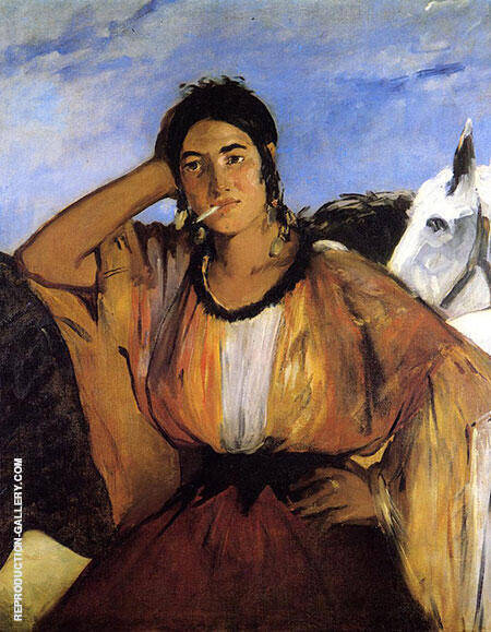 Gypsy with a Cigarette 1862 Painting By Edouard Manet