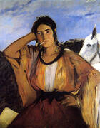 Gypsy with a Cigarette 1862 By Edouard Manet