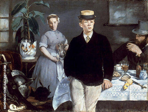 The Luncheon in the Studio 1868 By Edouard Manet Replica Paintings on Canvas - Reproduction Gallery