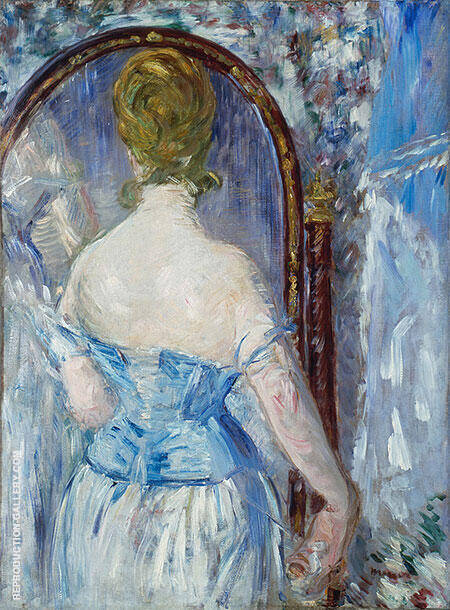 Before the Mirror 1876 By Edouard Manet - Oil Paintings & Art Reproductions - Reproduction Gallery