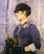 Young Woman in a Round Hat c1877 By Edouard Manet