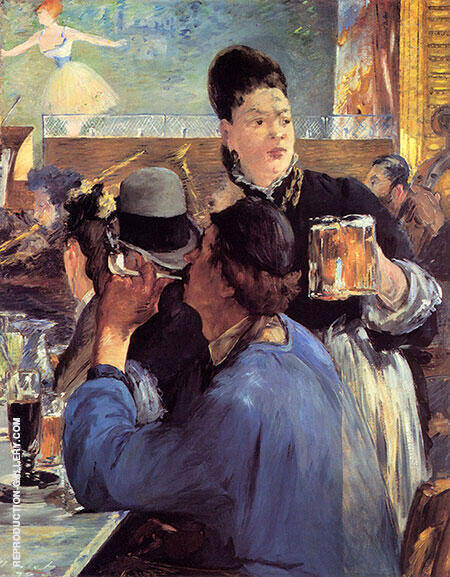 Corner in a Cafe Concert c1878 By Edouard Manet Replica Paintings on Canvas - Reproduction Gallery