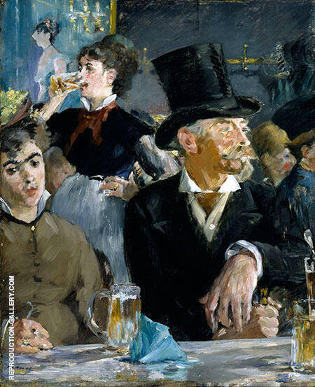 Cafe Concert 1878 By Edouard Manet - Oil Paintings & Art Reproductions - Reproduction Gallery
