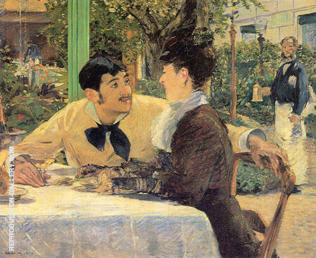 Couple at Pere Lathuille 1879 Painting By Edouard Manet