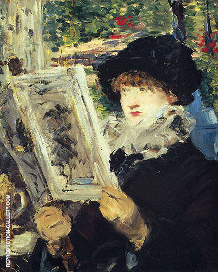 Woman Reading By Edouard Manet - Oil Paintings & Art Reproductions - Reproduction Gallery