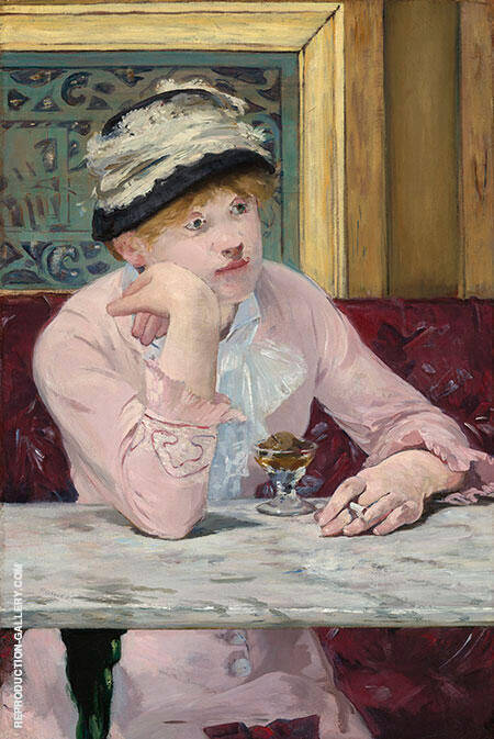 The Plum 1877 Painting By Edouard Manet - Reproduction Gallery