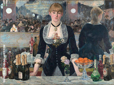 A Bar at the Folies Bergere c1881 By Edouard Manet - Oil Paintings & Art Reproductions - Reproduction Gallery
