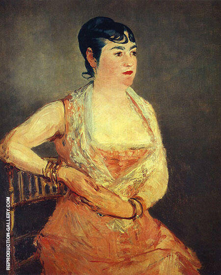 Jeanne Martin in Pink Dress 1881 By Edouard Manet
