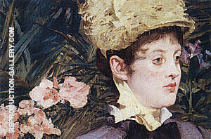 In the Conservatory Detail 1879 By Edouard Manet
