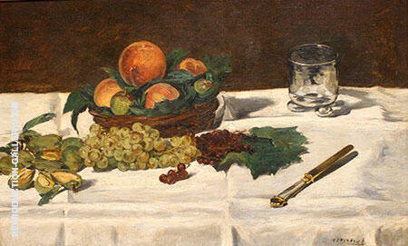 Fruit on a Table 1864 Painting By Edouard Manet - Reproduction Gallery