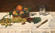 Fruit on a Table 1864 By Edouard Manet