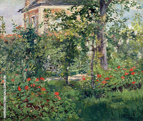 The Bellevue Garden 1880 Painting By Edouard Manet - Reproduction Gallery