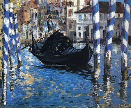The Grand Canal Venice Blue Venice 1875 By Edouard Manet - Oil Paintings & Art Reproductions - Reproduction Gallery