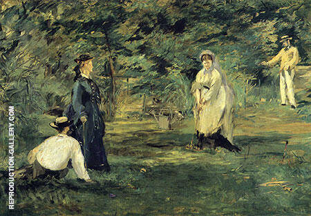 Croquet 1873 Painting By Edouard Manet - Reproduction Gallery