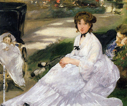 Reproduction of In the Garden 1870 by Edouard Manet | Oil Painting Replica On CanvasReproduction Gallery