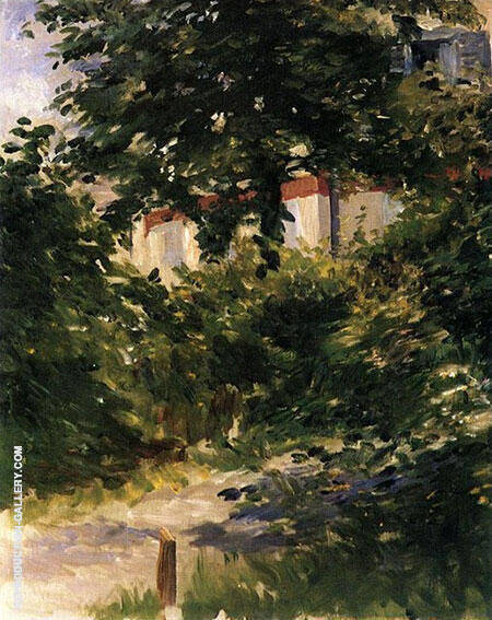 A Path in the Garden at Rueil 1882 By Edouard Manet