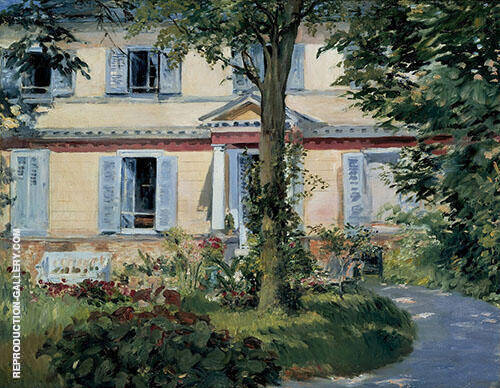 The House in Rueil 1882 By Edouard Manet