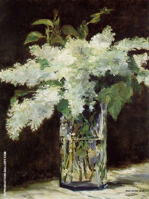 White Lilacs 1883 By Edouard Manet - Oil Paintings & Art Reproductions - Reproduction Gallery